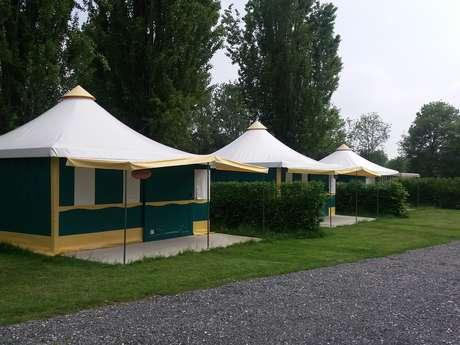 camping le val de sarthe - bungalows toile