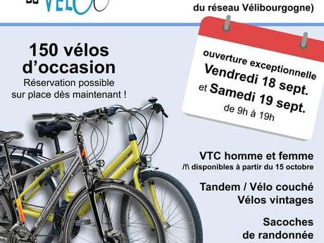 Grande vente de vélos d'occasion