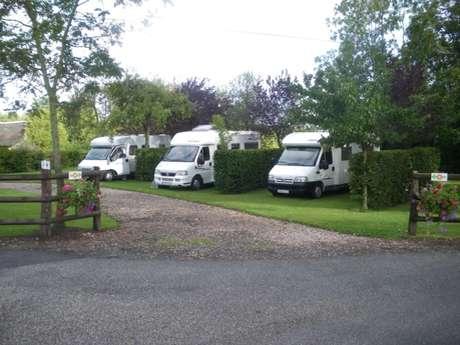 Camper van service area - Saint-Germain de Montgommery