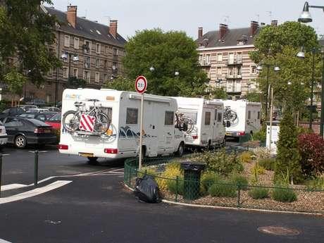 Carmel car park camper van service area - Lisieux