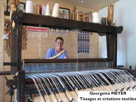 Georgette Meyer , tissages et créations textiles - Exposition, vente de créations artisanales