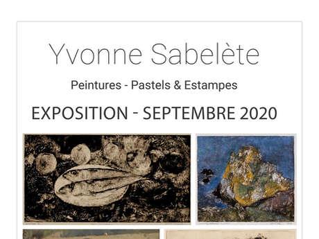 Exposition du mois de septembre - Yvonne Sabelète