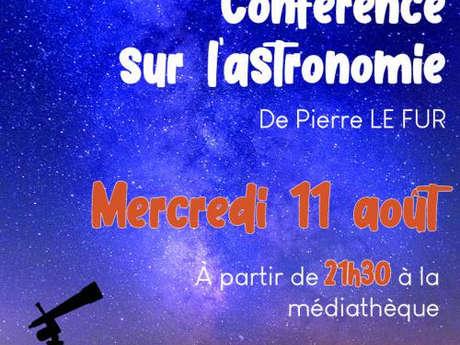 Conférence sur l'astronomie par Pierre Le Fur & observation