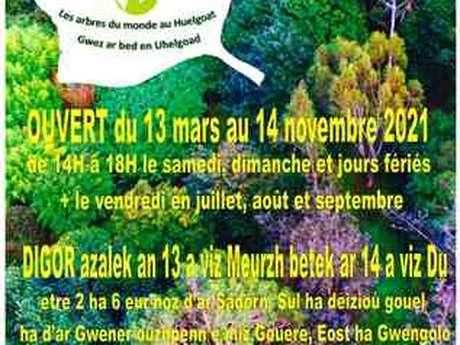 Ouverture de l'Arboretum à Huelgoat à partir du 13 Mars jusqu'au 14 Novembre