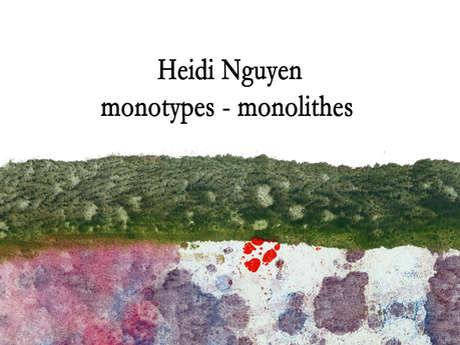 """Exposition Heidi Nguyen """"Monotypes-Monolithes"""""""