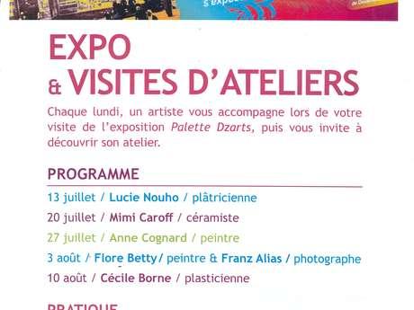 Visites d'atelier de Franz Alias et Flore Betty, photographe et peintre.