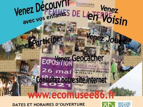 """25 juillet : Rencontre avec Francoise, un agricultrice à l'Ecomusée autour de """"l'exposition femmes de la terre"""""""