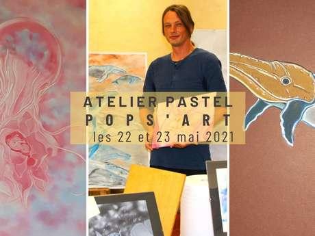 Atelier craie pastel avec Pops'Art