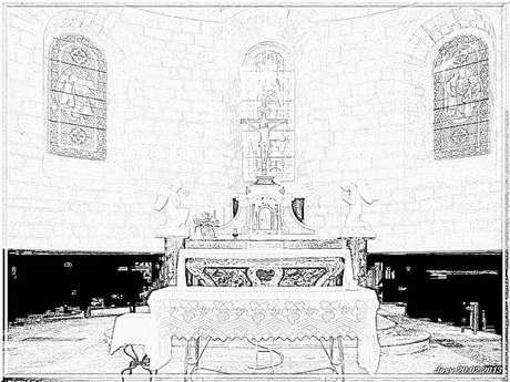 Maître autel du 17ème siècle en bois doré