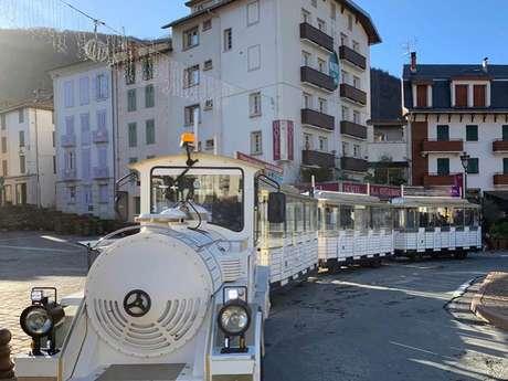 Petit train touristique Savign'Ax en hiver