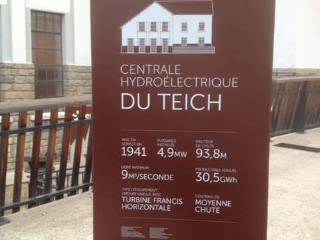 Sentier d'interprétation de l'usine hydroélectrique du Teich