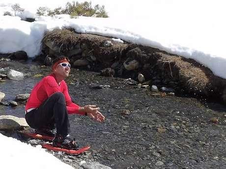 Raquettes à neige avec le Dahu Ariégeois