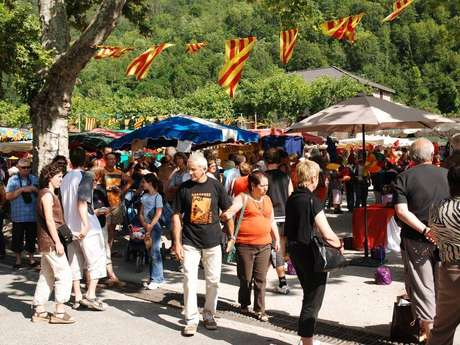 Marché artisanal de Saurat août