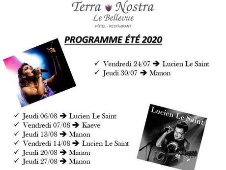 """Concerts au restaurant """"Le Bellevue"""""""