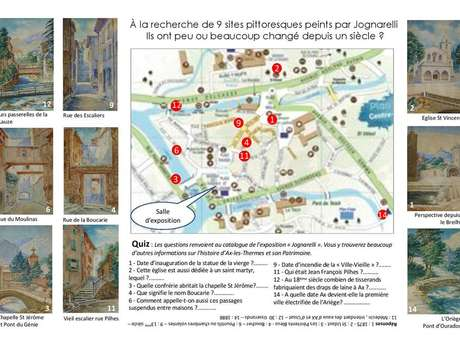 """Discovering Ax les Thermes in the footsteps of the painter """"Marius Jognarelli"""""""