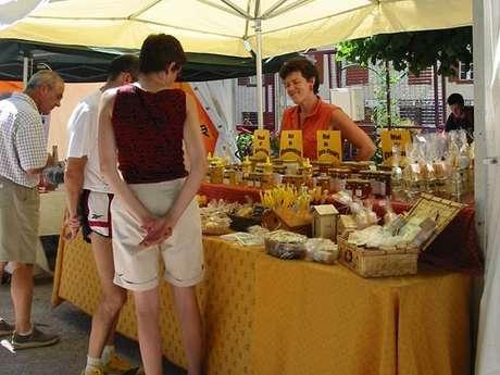Vicdessos market, on the Place du gravier