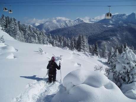 Raquettes et ski de randonnée à Ax 3 Domaines