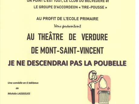 """Théâtre """"Je ne descendrai pas la poubelle"""""""