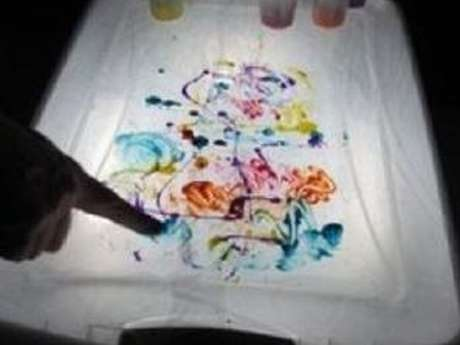 Activités plastiques et sensorielles, atelier parents-enfants