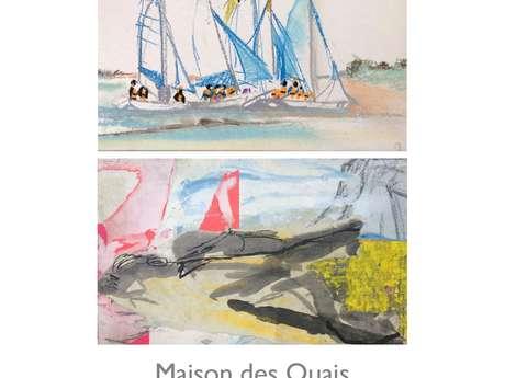 Vernissage de l'exposition de Corinne et Sarah SIMON - pastels, peintures et croquis