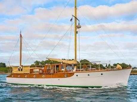 Visite et apéro DYNAMO à bord du Yacht HYSKEIR