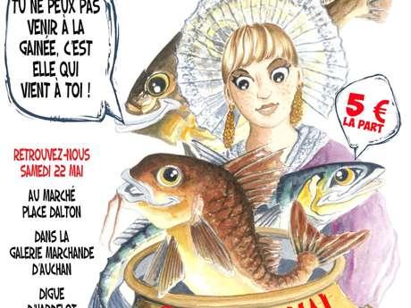 GAINÉE SUR LA DIGUE D'HARDELOT