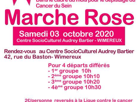 OCTOBRE ROSE  : MARCHE ROSE