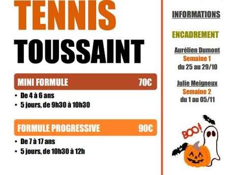 STAGE DE TENNIS : VACANCES DE LA  TOUSSAINT