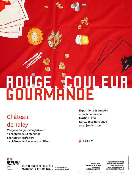 Rouge, couleur gourmande au château de Talcy