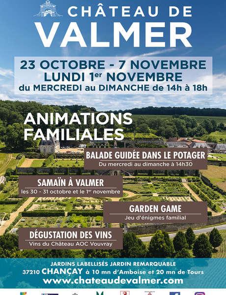 Vacances de la Toussaint au château de Valmer