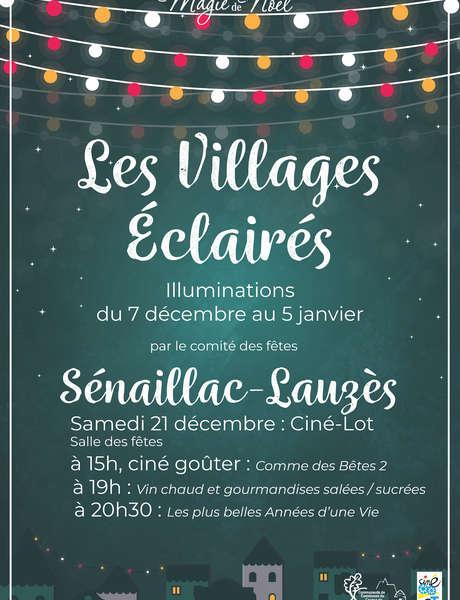 Illuminations de Noël à Sénaillac-Lauzès