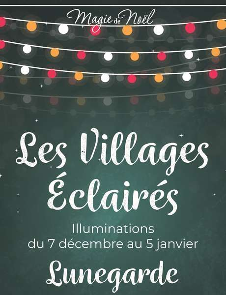 Illuminations de Noël à Lunegarde
