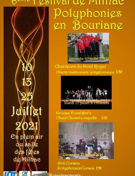 """6ème Festival """"Polyphonies en Bouriane"""""""