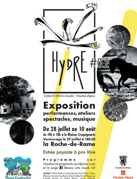Hydre, expo d'arts visuels, mardi 3 août