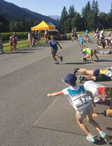 Challenge biathlon entre amis ou en famille