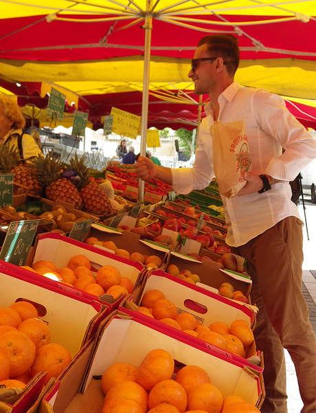 Marché fruits et légumes de Vallauris