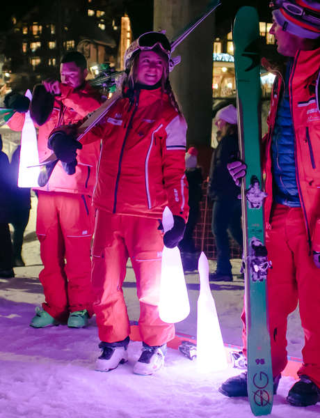 Torchlight ski down with ESF