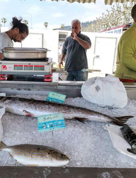 Etal de pêche locale