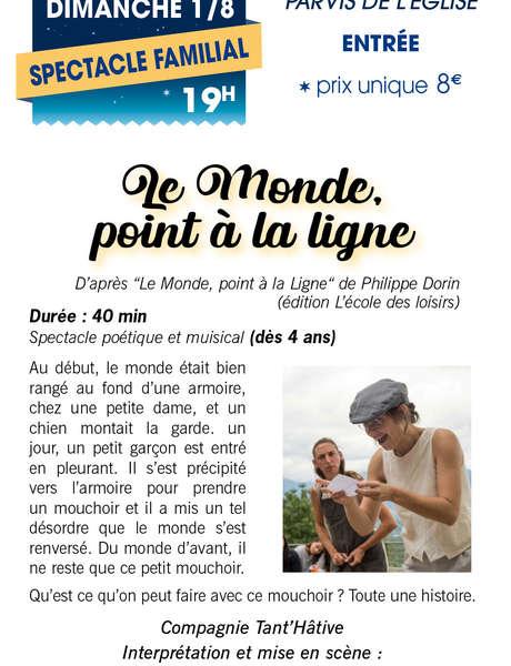 """""""Le Monde point à la ligne"""" - Théâtre en fête à Sablet"""
