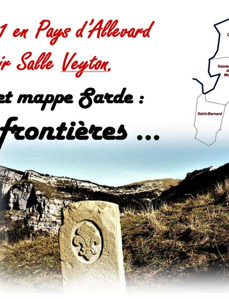 Visites guidées de l'exposition sur les bornes frontières, cadastres et mappe sarde