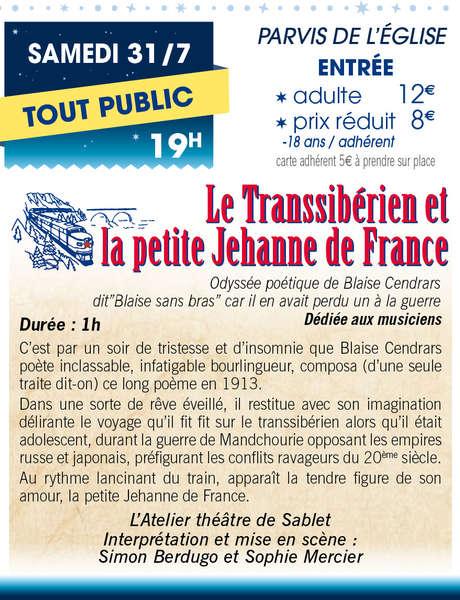 """""""Le Transsibérien et la petite Jehanne de France"""" - Théâtre en fête à Sablet"""
