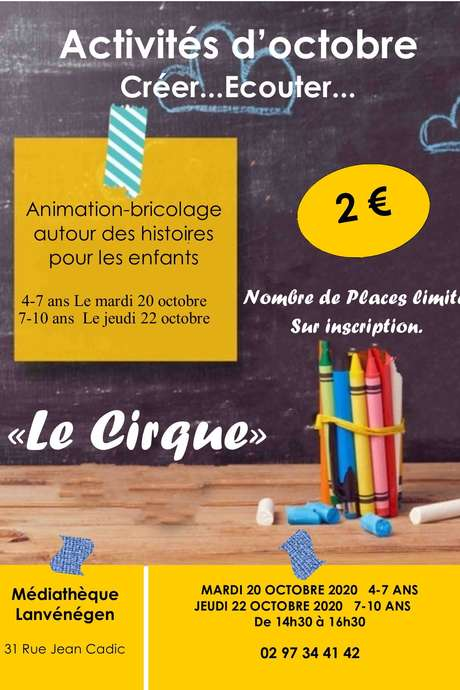 Animation bricolage pour les enfants de 4 à 7 ans