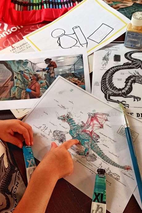 Atelier - A la loupe : la naissance d'un dragon
