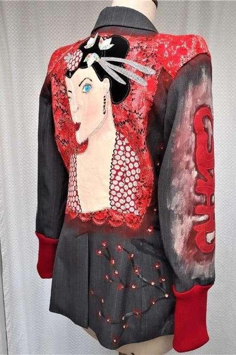 Création textile : atelier veste Rock & Fashion