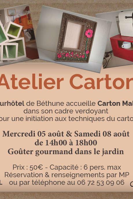 Atelier carton au Tourhôtel