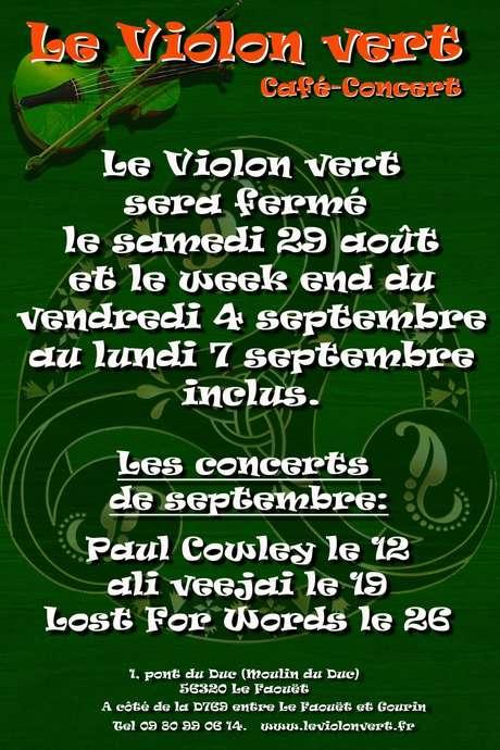 Concerts au Violon Vert