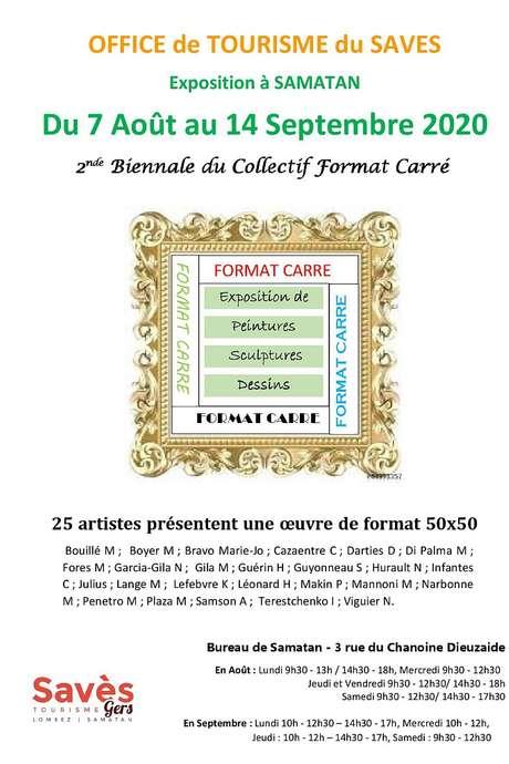 """EXPOSITION  """" COLLECTIF FORMAT CARRÉ """" À L'OFFICE DE TOURISME DU SAVÈS"""