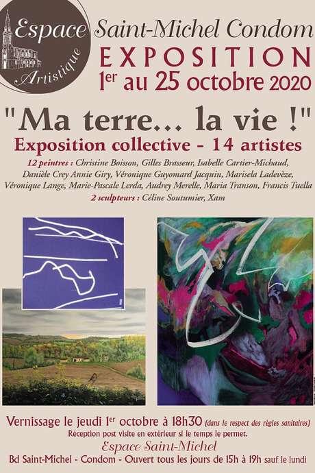 """EXPOSITION ARTS ET RENCONTRES : """"MA TERRE...LA VIE"""" À L'ESPACE SAINT MICHEL"""