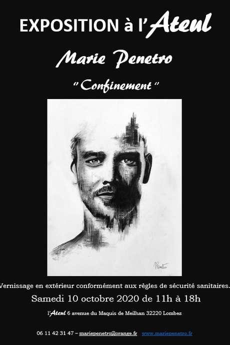 """EXPOSITION """"CONFINEMENT"""" DE MARIE PENETRO À L'ATEUL"""