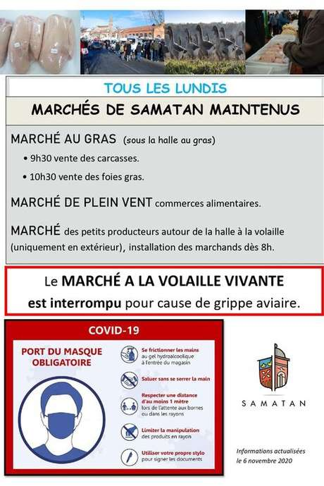 MARCHÉ AUX VOLAILLES VIVANTES DU LUNDI A SAMATAN